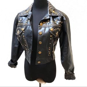Vintage 80's punk studded jacket